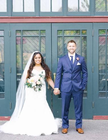 Photo of Ashley and Ben at their wedding