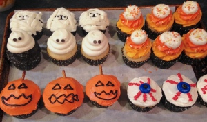 Photo of Halloween themed cupcakes