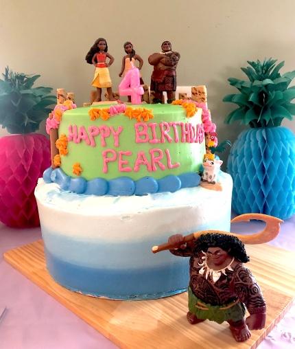 Photo of Moana themed birthday cake