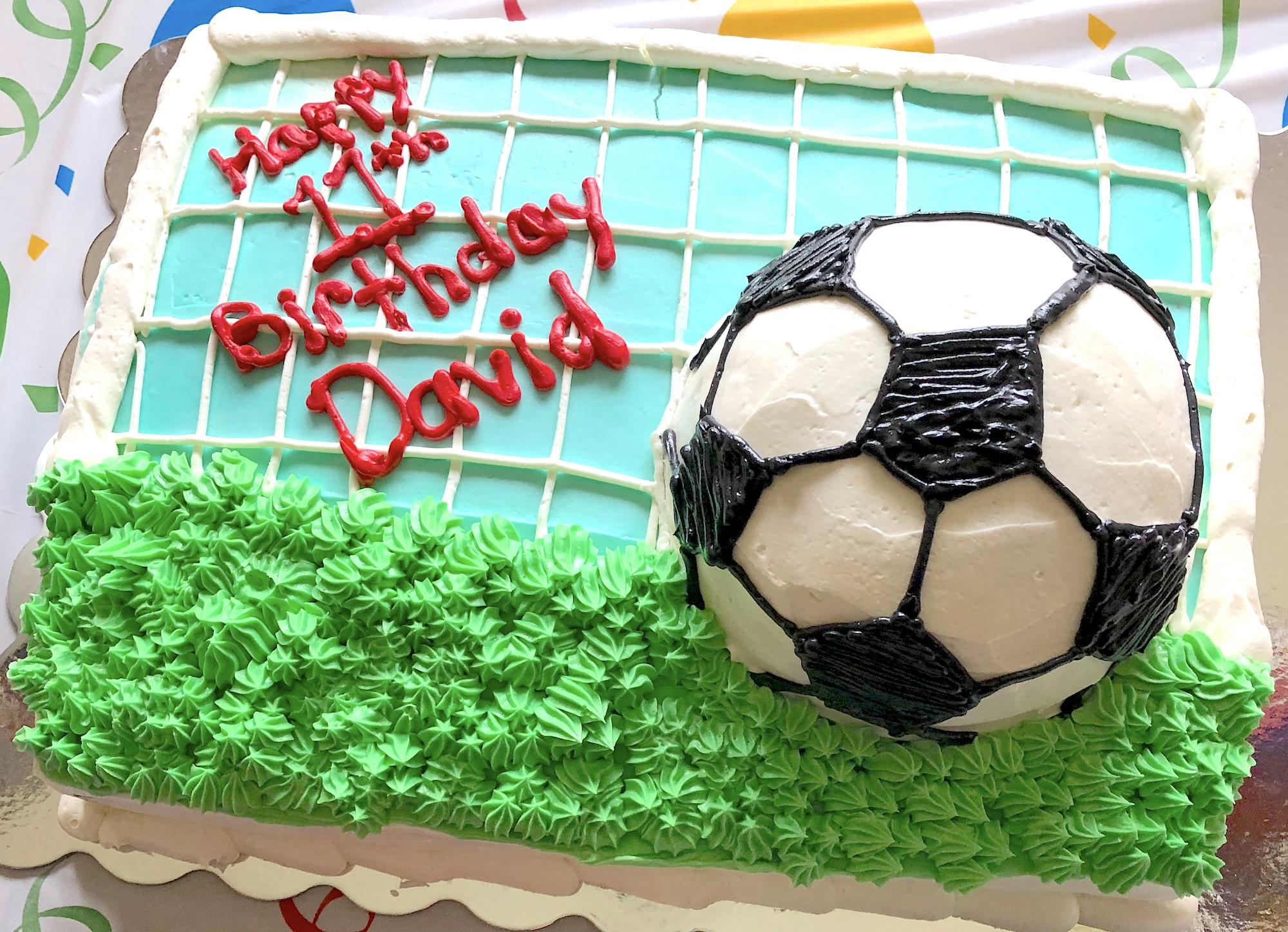 Marvelous Birthday Cake For A Future Soccer Champion Sugar Shack Funny Birthday Cards Online Aboleapandamsfinfo